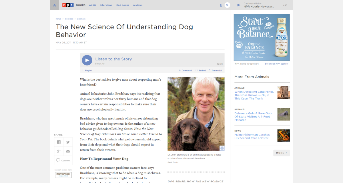 Science Breakthrough Understanding Your Dog